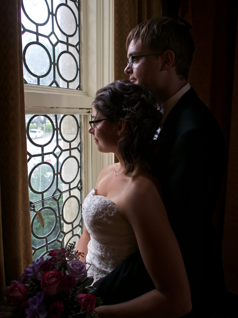 David and wife window close up